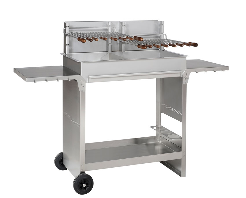Barbecue Inox - Collet Industrie - modèle 1000 Master chariot